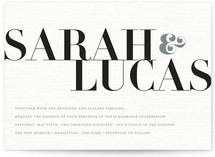 All About You Wedding Invitations