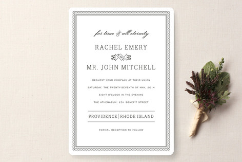 Time And All Eternity Wedding Invitations By Cambr Minted