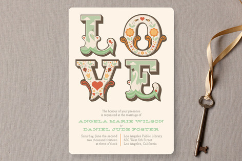Ornamental Wedding Invitations