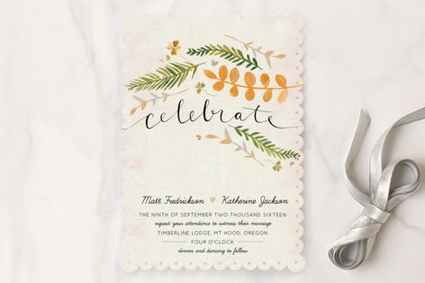 Leaf Specimen Wedding Invitations