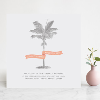 palm tree wedding invites