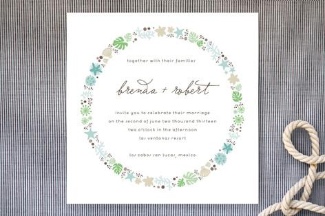 Sea Shells by the Sea Shore Wedding Invitations