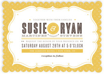 Modern Label Wedding Invitations