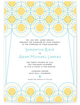 Deco Lights Wedding Invitations