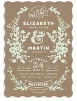 Ampersand Floral Wedding Invitations