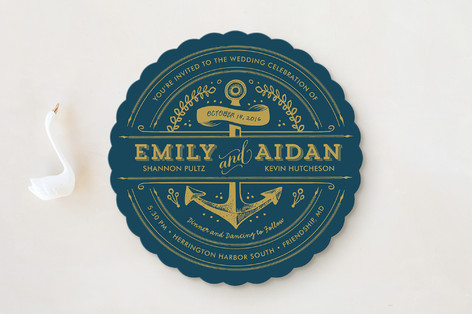 Anchored Wedding Invitations