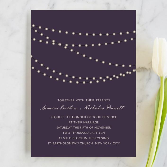 outdoor summer wedding invitation