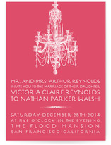 Chandelier Wedding Invitations