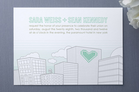 Cityscape Union Wedding Invitations