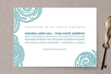contemporary chic wedding invitations by guess wha minted