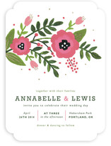 Peach Blooms Wedding Invitations