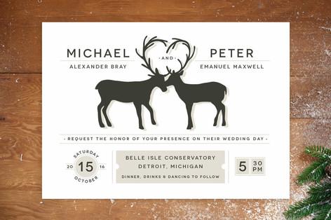Antler Fancy Wedding Invitations