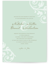 Elegant Flourish Wedding Invitations