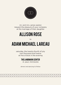 Eternity Wedding Invitations by Milkmaid Press