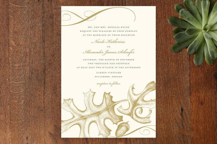 Autumnal Leaf Wedding Invitations