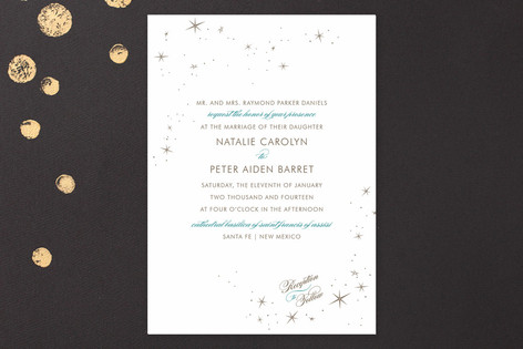 Float + Starry Wedding Invitations