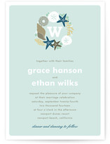 Seaside Initial Wedding Invitations