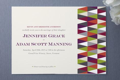 Geometric Pattern Wedding Invitations