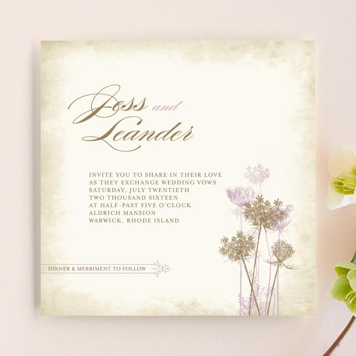 Сельский Приглашения свадебные королевы Анны