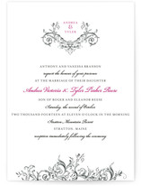 Victorian Vine Monogram Wedding Invitations