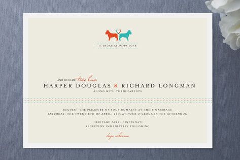 dog wedding invitation