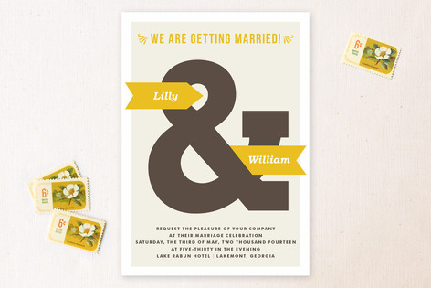 And Now. Wedding Invitations
