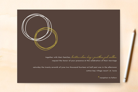 circles wedding invitations by chica design minted