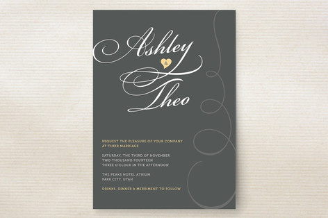 Sweet Swirls Wedding Invitations