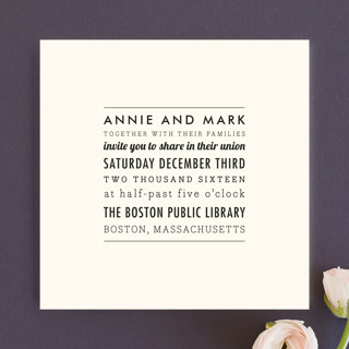 The Square Types Wedding Invitations