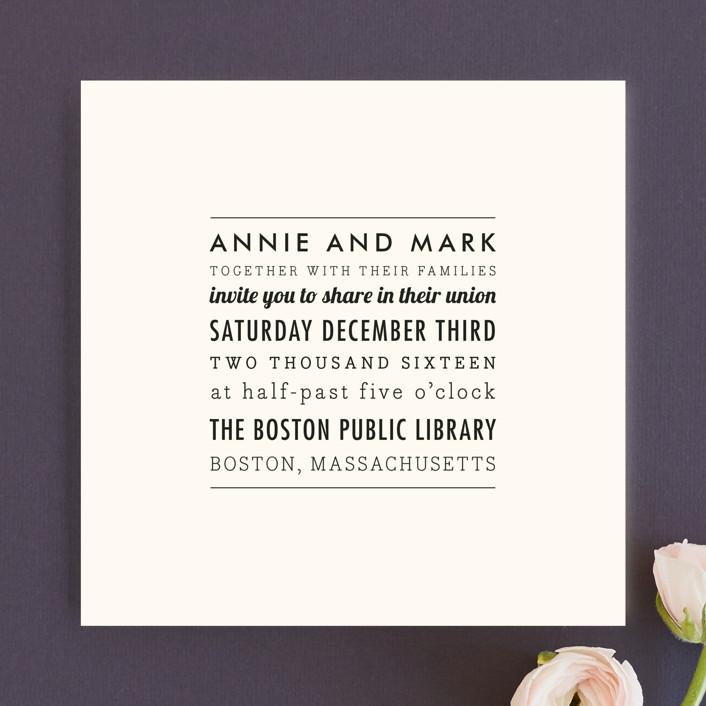 simple modern wedding invitations