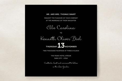 Wedding Type Wedding Invitations