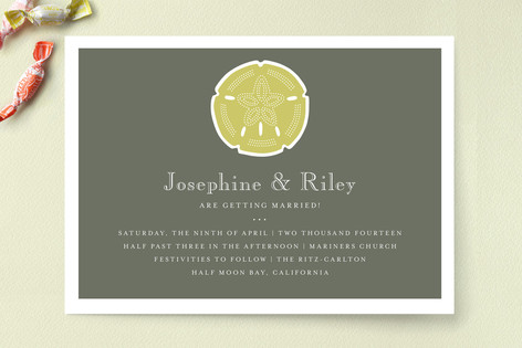 Sand and Sea Wedding Invitations