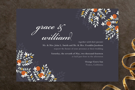 Orange Blossoms Wedding Invitations