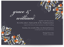 Orange Blossoms Wedding Invitations