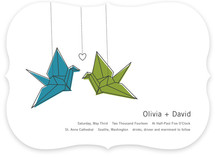 Two Cranes Wedding Invitations