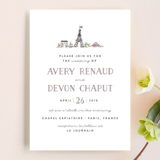 Darling Day Paris Wedding Invitations By Melissa E Minted
