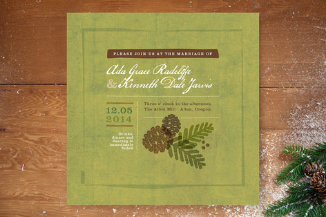 Rustic Pinecones Wedding Invitations
