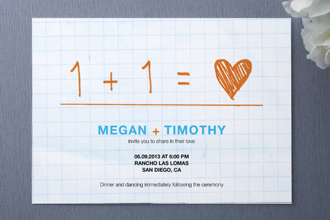 math wedding invitation
