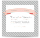 Grey Sugar Stripe Wedding Invitations