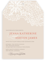 White Lace Wedding Invitations