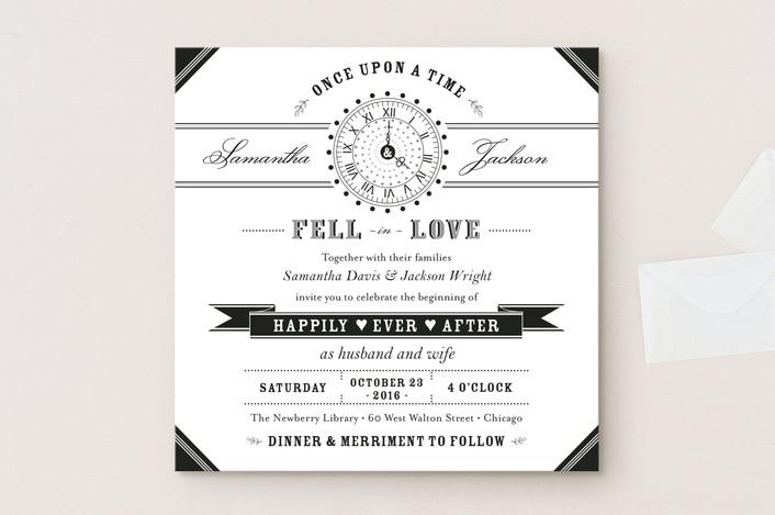 fun storybook wedding invitation
