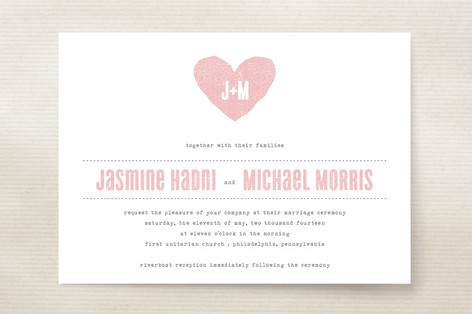 One Heart Wedding Invitations