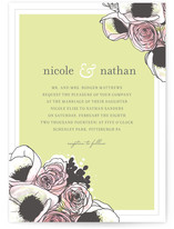 Belles Fleurs Wedding Invitations