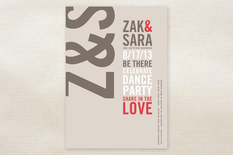 Type Stack Wedding Invitations