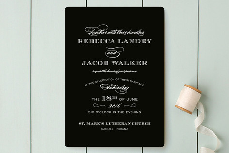 soiree wedding invitations by sarah brown minted