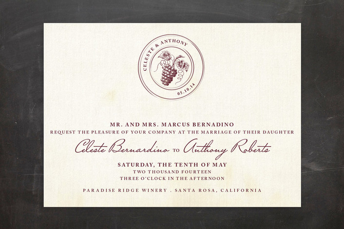 vintage vineyard wedding invitations - Winery Wedding Invitations