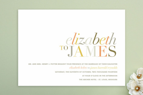 Tonality Wedding Invitations