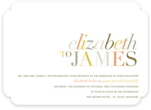 Tonality Wedding Invitations