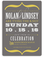 Bold Brackets Wedding Invitations