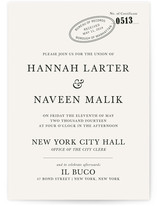 City Hall Wedding Invitations